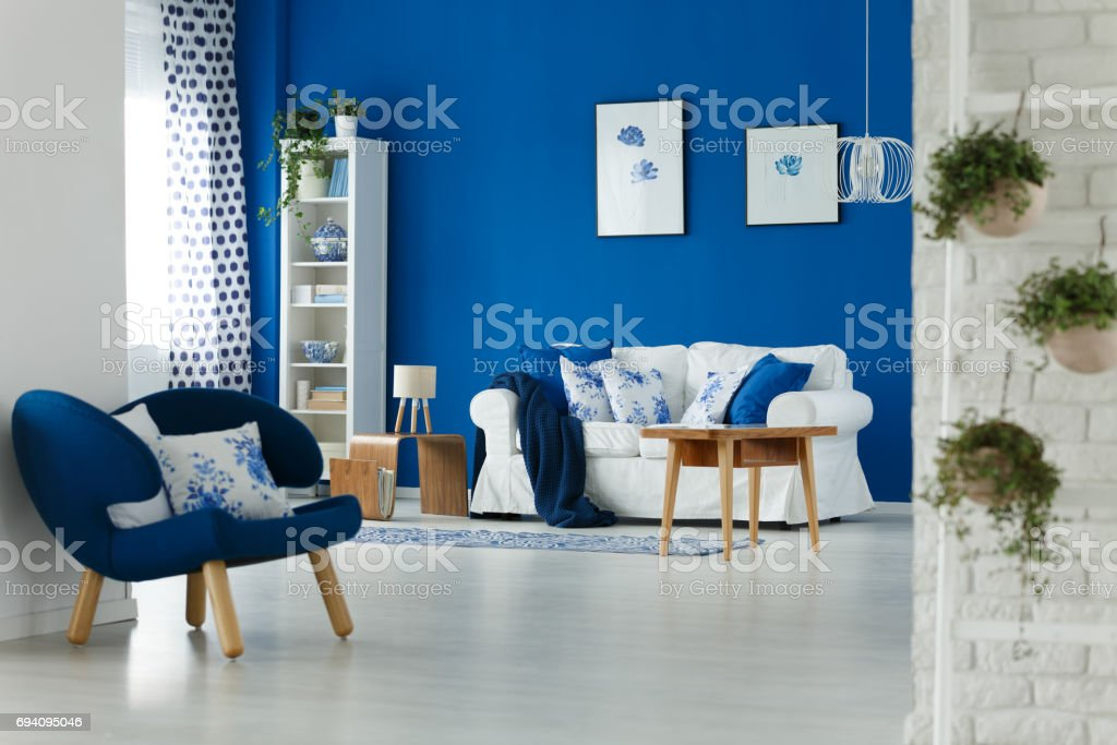 Living room interior design stock photo