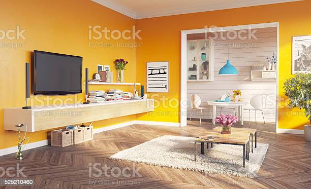 Living Room Interior Stock Photo - Download Image Now