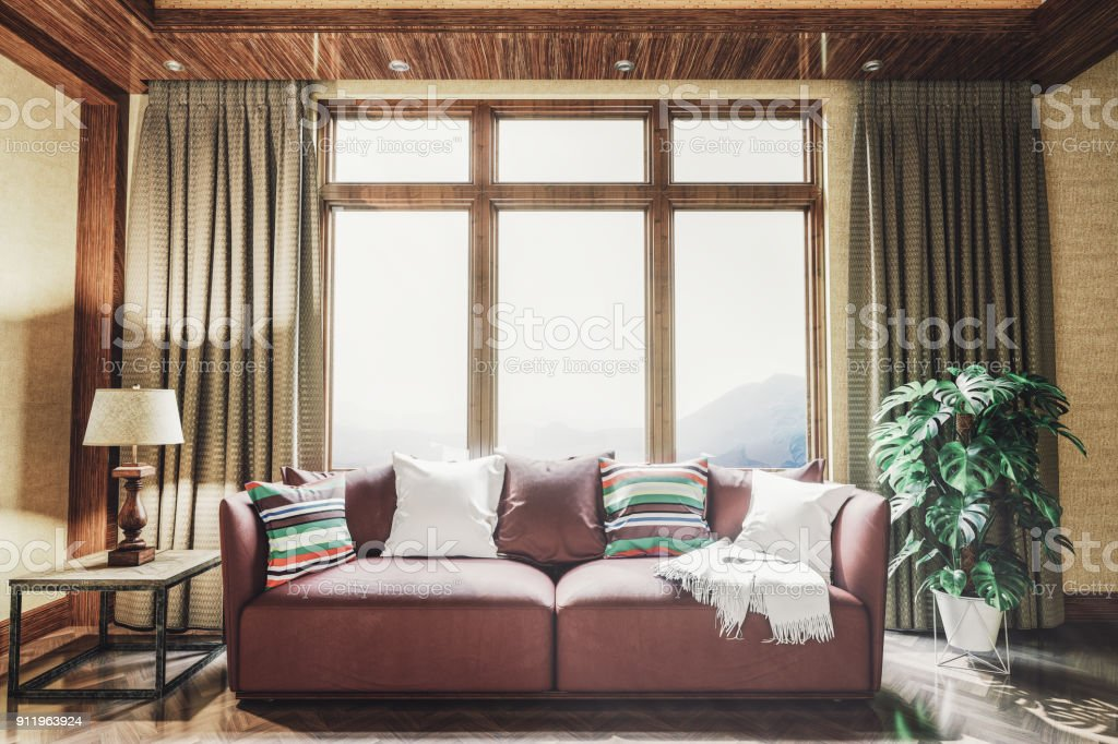 Living Room Interior Stock Photo & More Pictures of 1950 ...