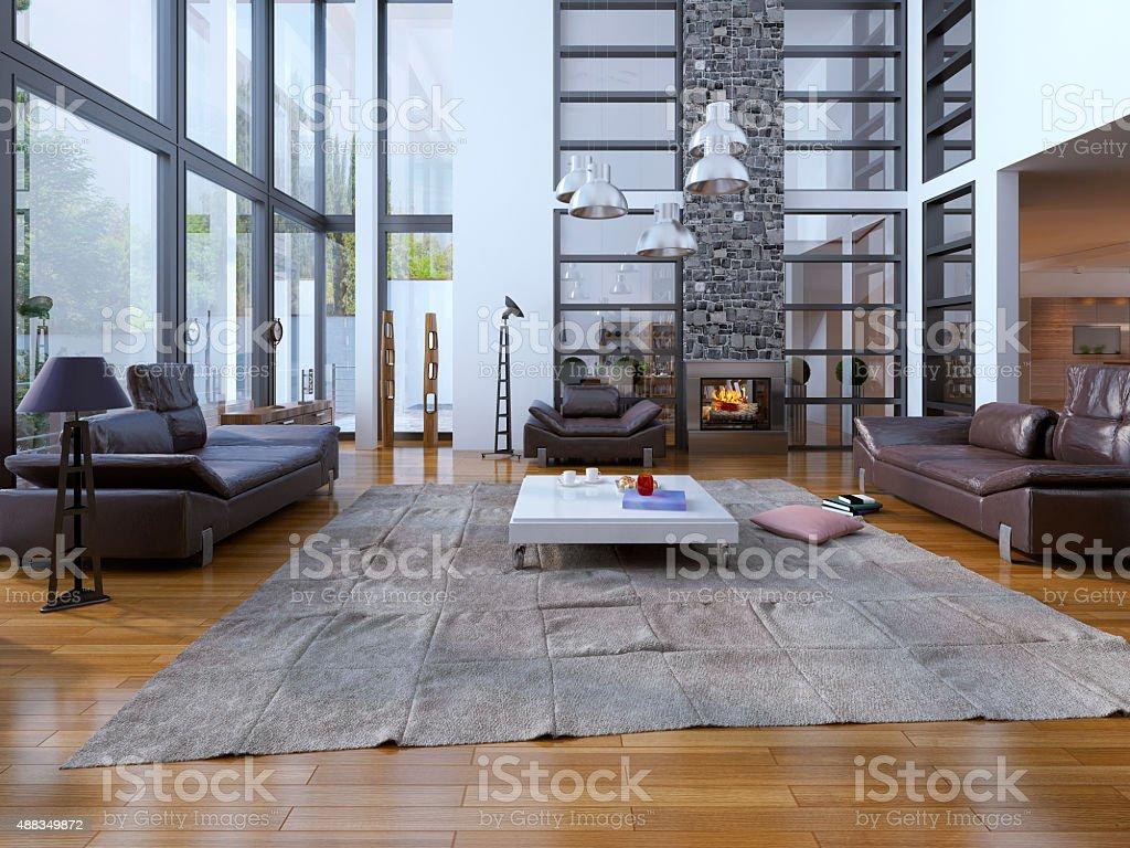 Wohnzimmer loft-Stil Lizenzfreies stock-foto