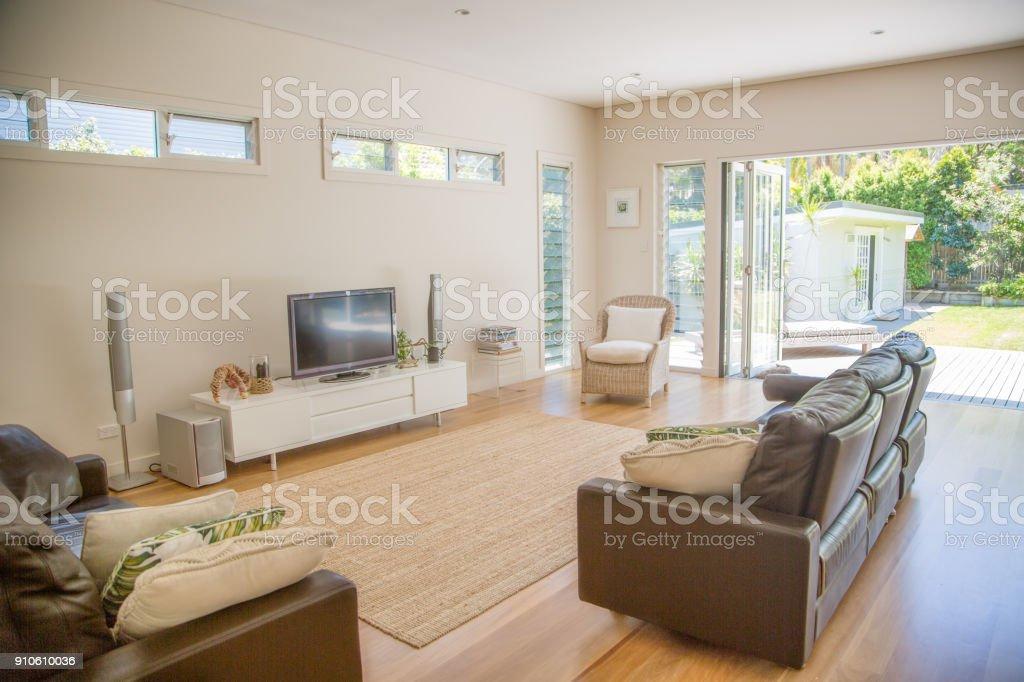Living room of an Australian beach house