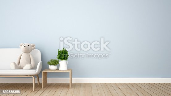 istock living room or kid room  blue tone 659838358