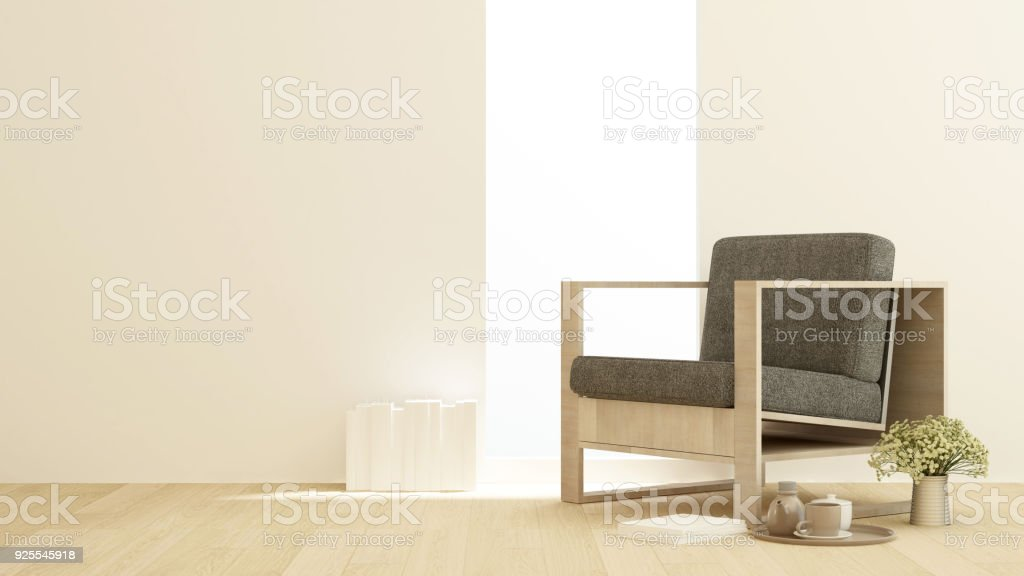 Living Room Or Lounge On Sunshine Day In Apartment Or Hotel Interior