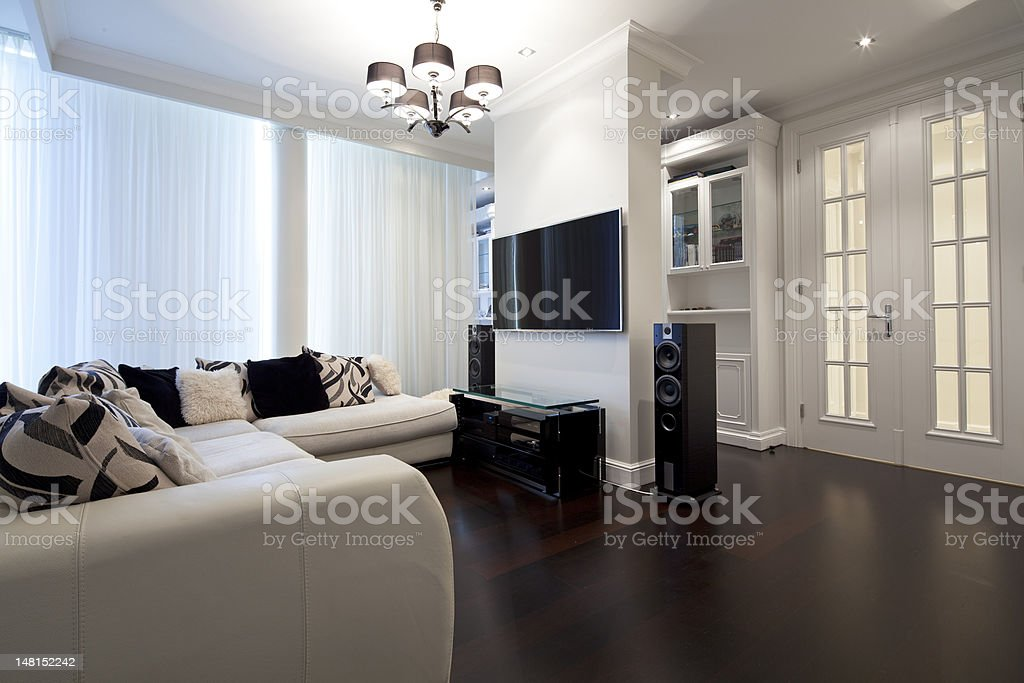 Living room Interior of new designer living room Apartment Stock Photo