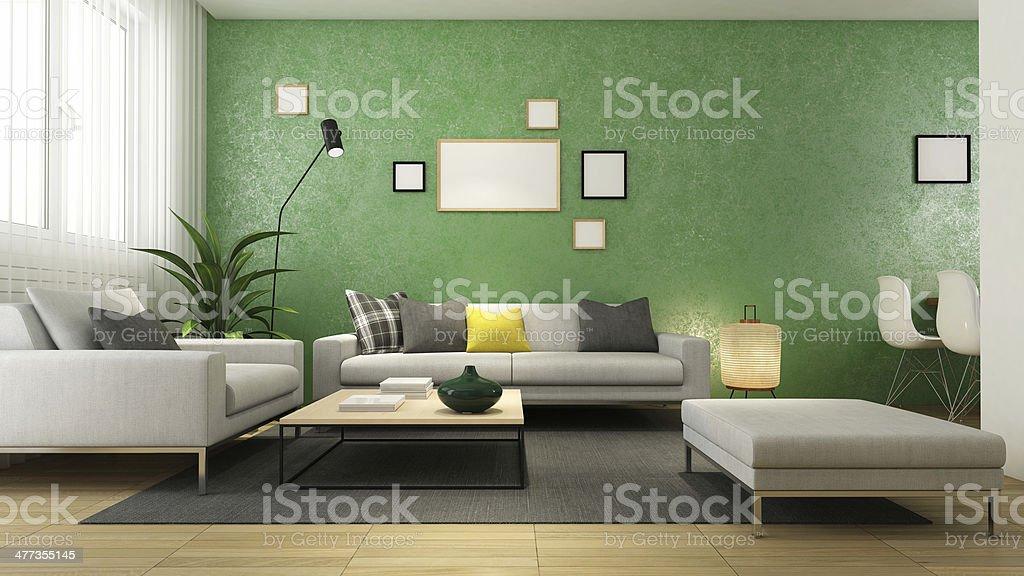 Living Room Modern Living Room Apartment Stock Photo
