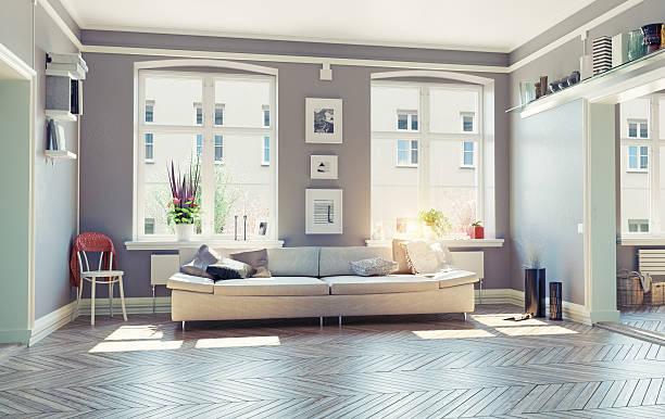 wohnzimmer room - malerei türen stock-fotos und bilder