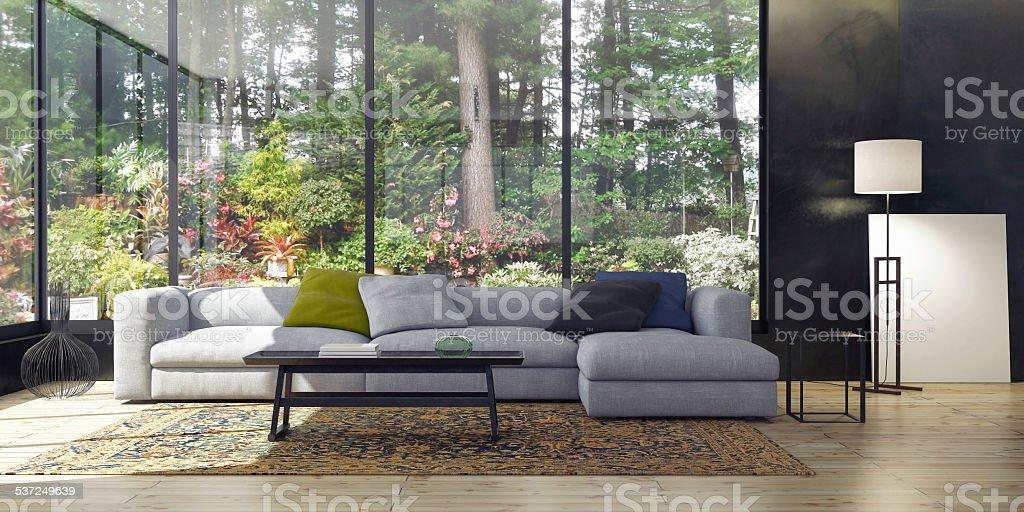 Living Room Modern Living Room 2015 Stock Photo