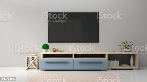 Living Room Room With Tv On The Wall In Modern Living Room Stock Photo Download Image Now Istock
