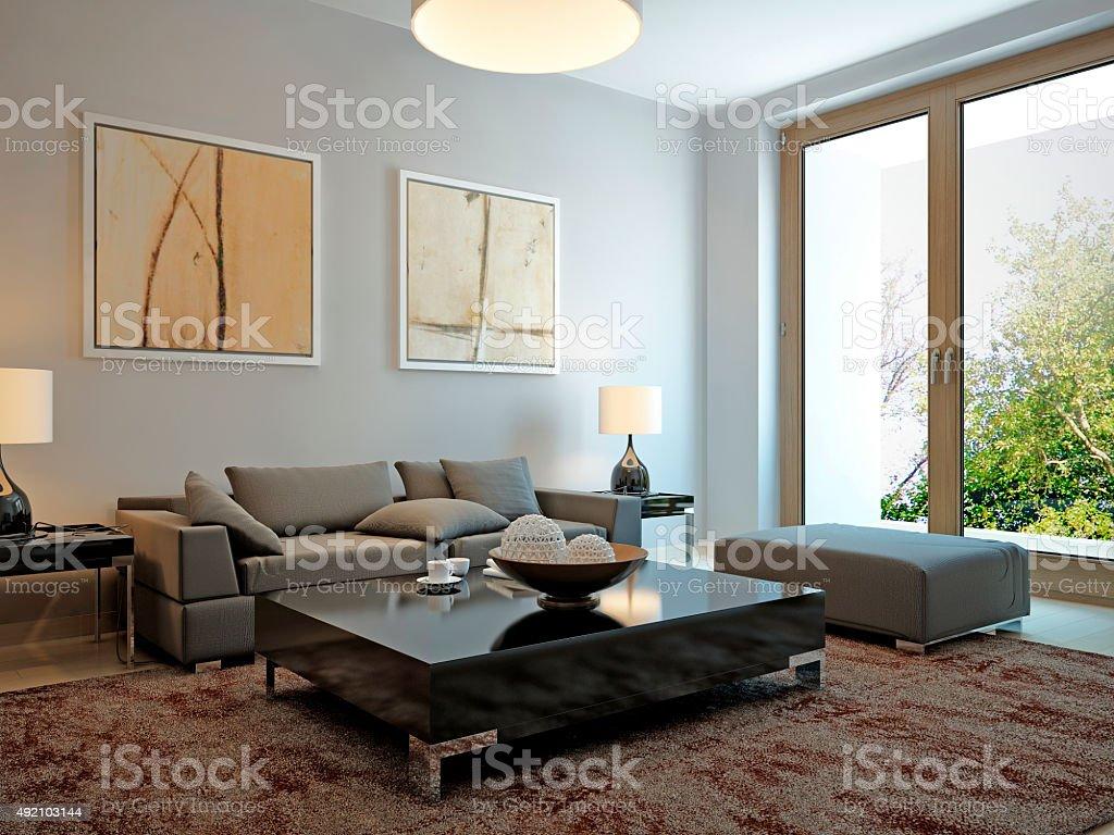 Wohnzimmer Im Skandinavischen Stil Stock Fotografie Und Mehr Bilder