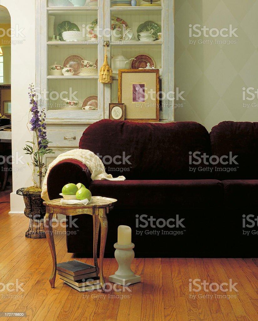 Living Room Sofa & Ottoman royalty-free stock photo