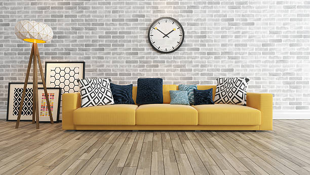 big living room pictures.  living room with big watch white brick wall stock photo Living Room Pictures Images and Stock Photos iStock