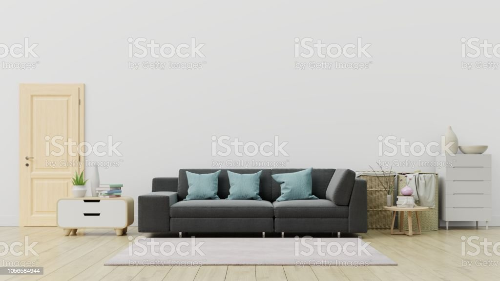 Prime Living Room With Black Sofa And Decoration Have Back White Wall Stock Photo Download Image Now Ibusinesslaw Wood Chair Design Ideas Ibusinesslaworg