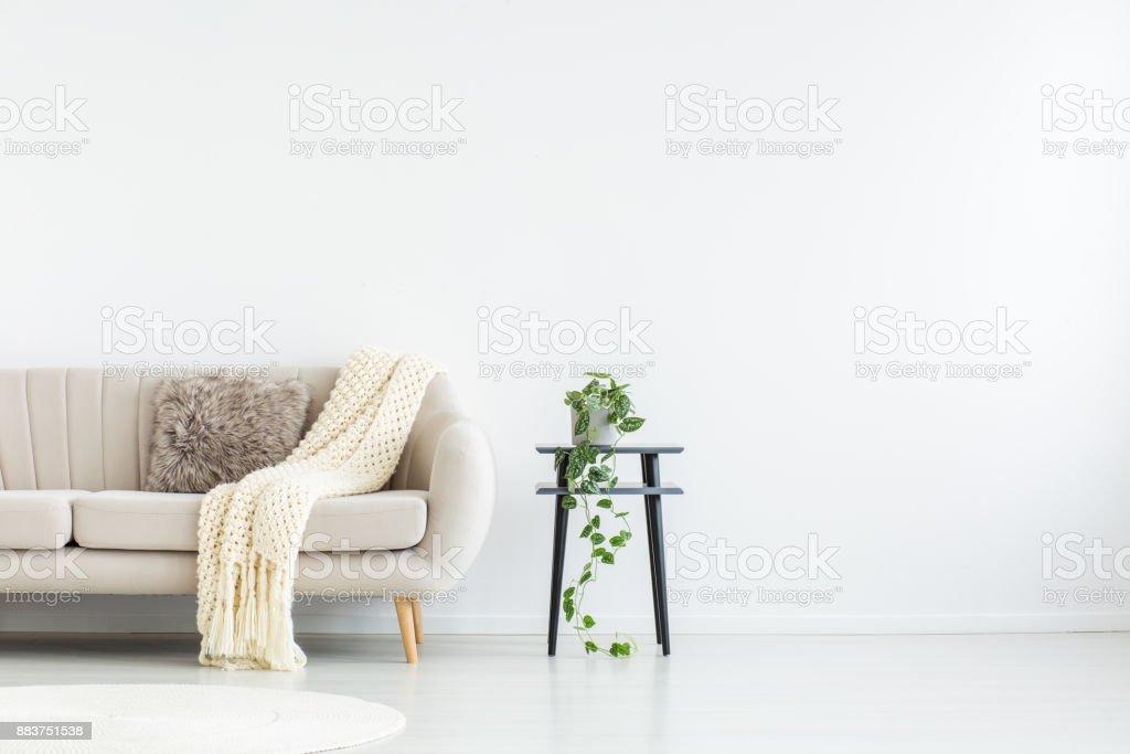Wohnzimmer mit Textfreiraum Lizenzfreies stock-foto
