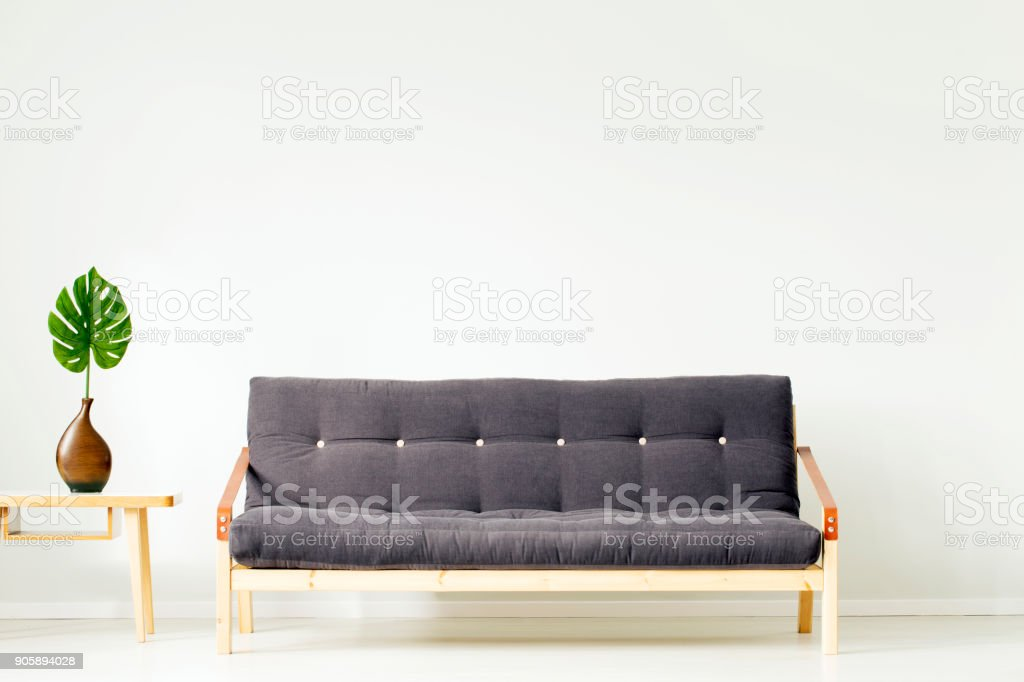 Living room with copy space stock photo