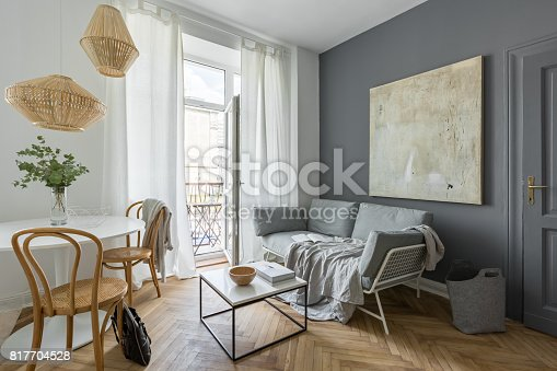 istock Living room with couch 817704528