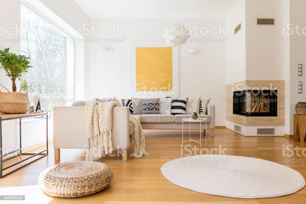 Wohnzimmer Mit Kamin U2013 Foto