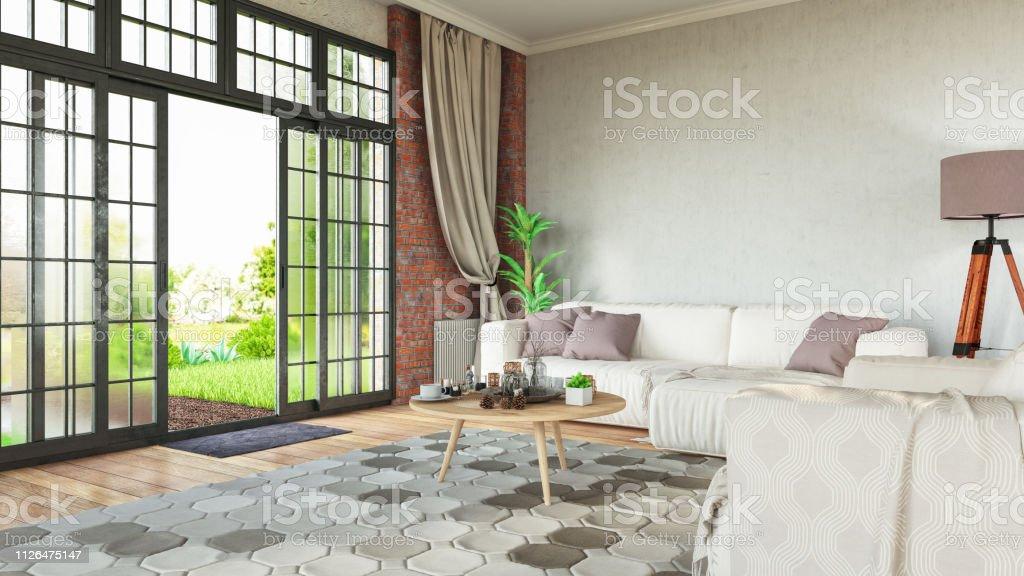 Room with cozy design