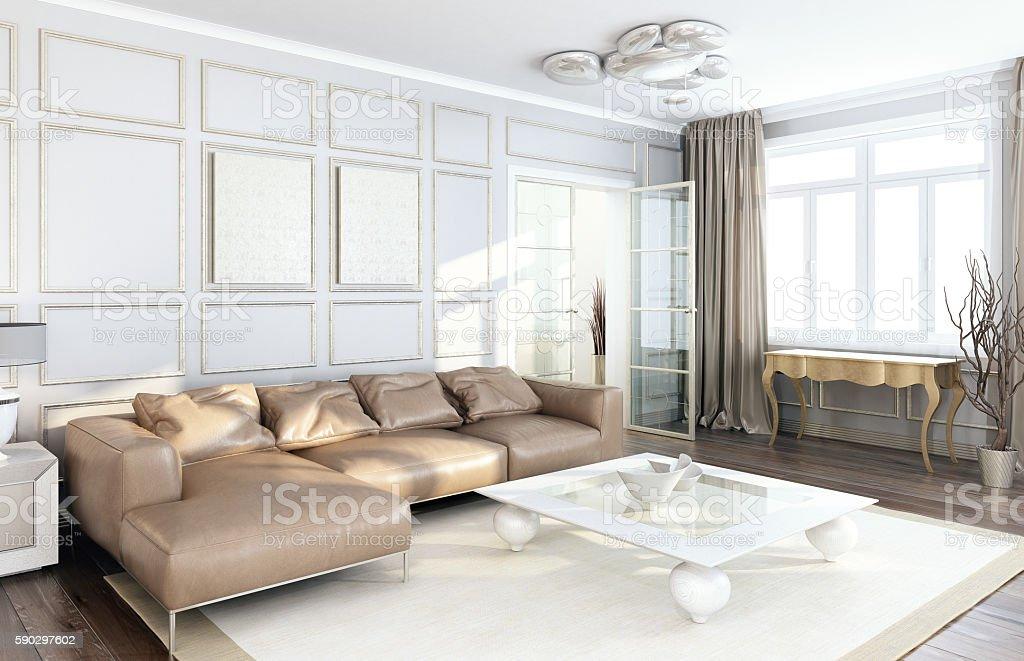 Living room with luxury furniture. royaltyfri bildbanksbilder