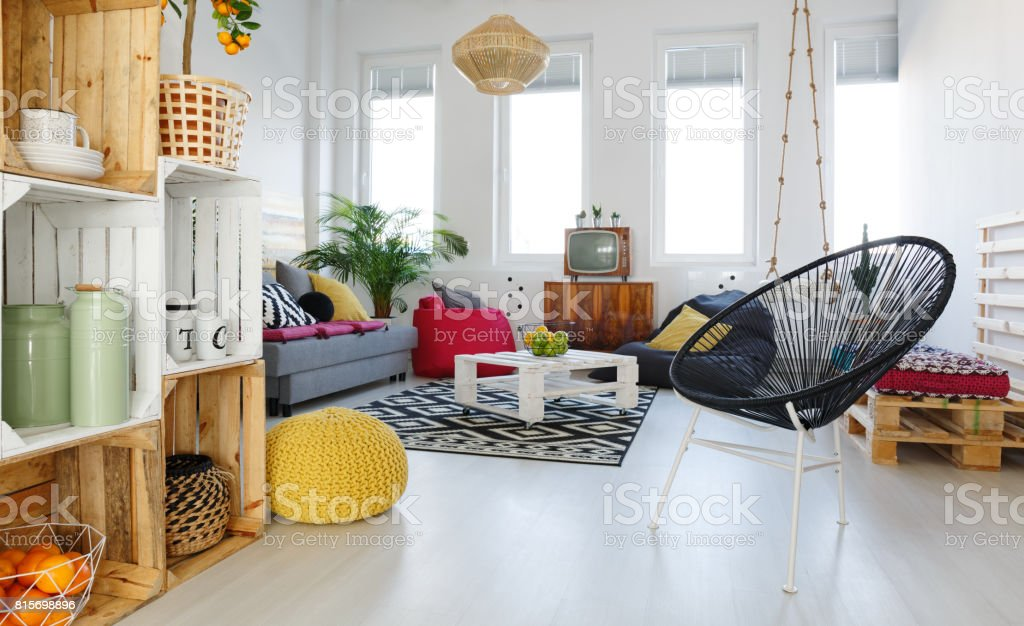 Living Room With Round Chair Stock Photo Download Image Now Istock