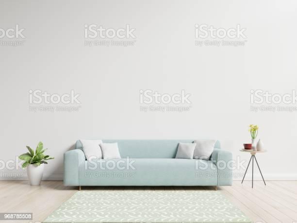 Woonkamer Met Sofa Hebben Kussens Stockfoto en meer beelden van Appartement