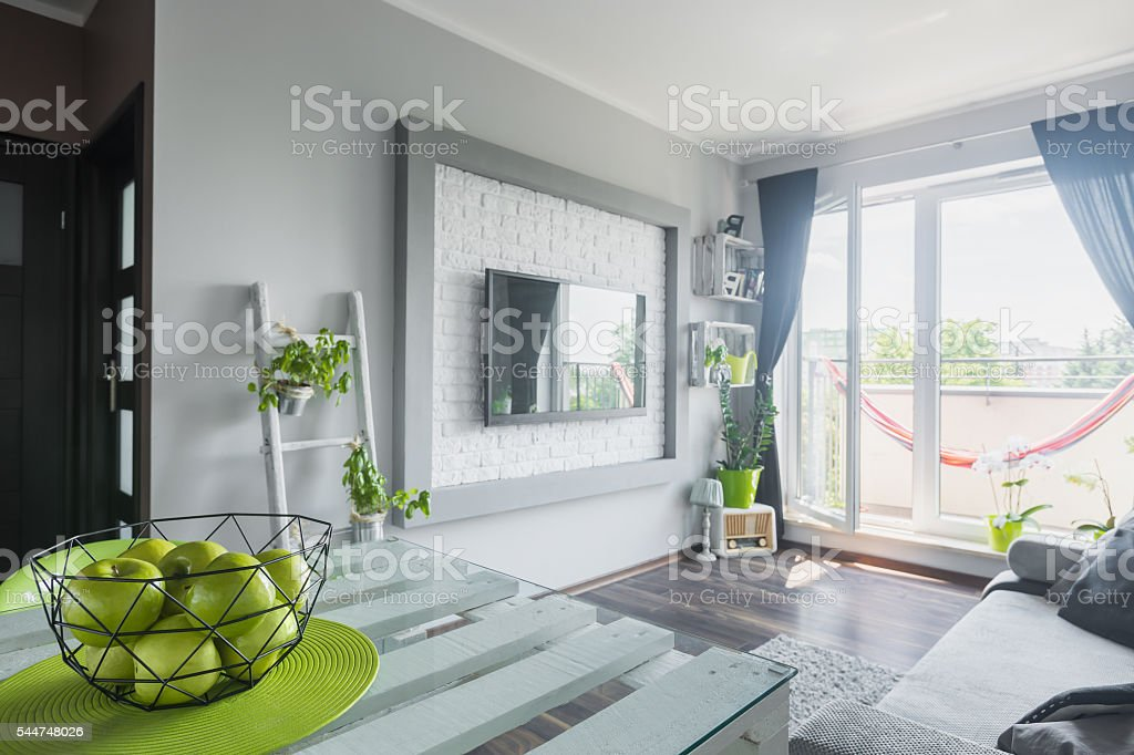 Living Room With Tv As A Focal Point Stock Photo Download Image Now Istock