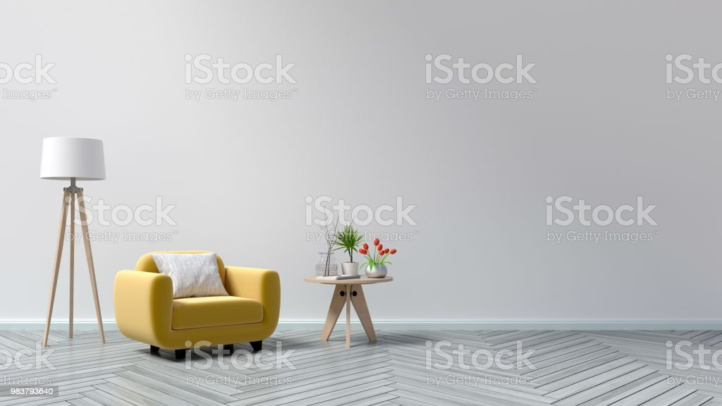 Picture of: Living Room With Wooden Table Lamps Stock Photo Download Image Now Istock