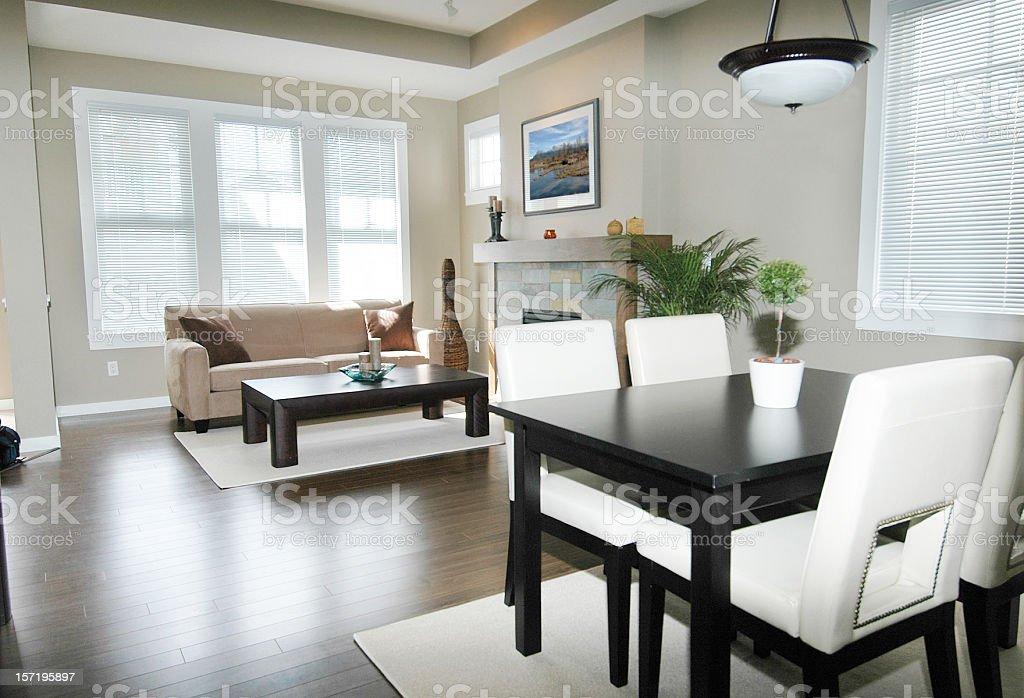 Living Slash Dining Room royalty-free stock photo