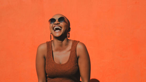 Living that laugh a minute life stock photo