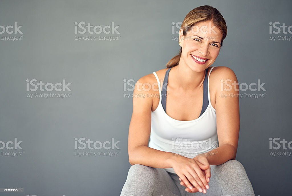 Living the healthy life stock photo