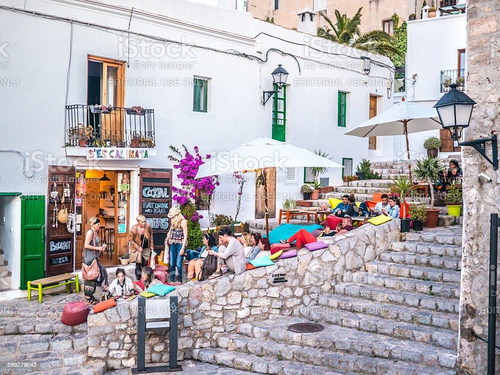 Living the Ibiza life stock photo