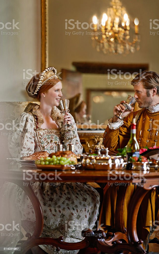 Living the life of the nobility stock photo