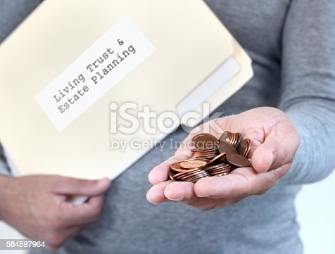 istock Living Trust and estate planning 584597964