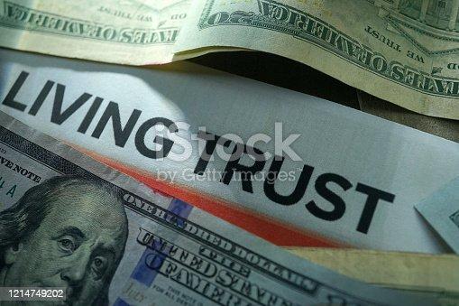 close up shot of living trust