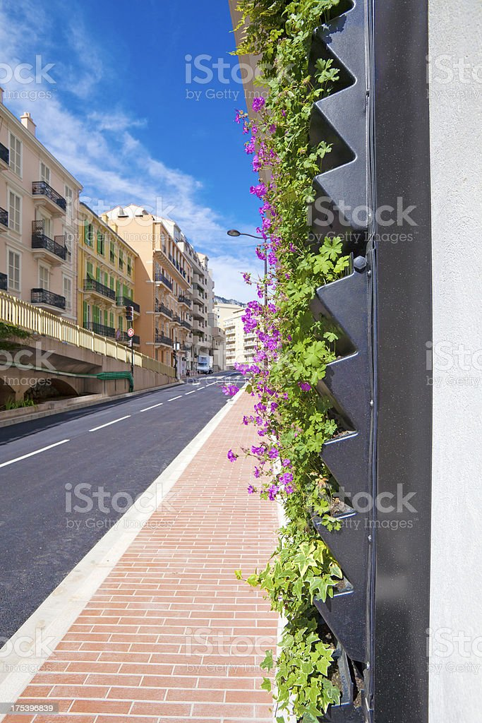 Living Wall Office Facade on City Street vertical royalty-free stock photo