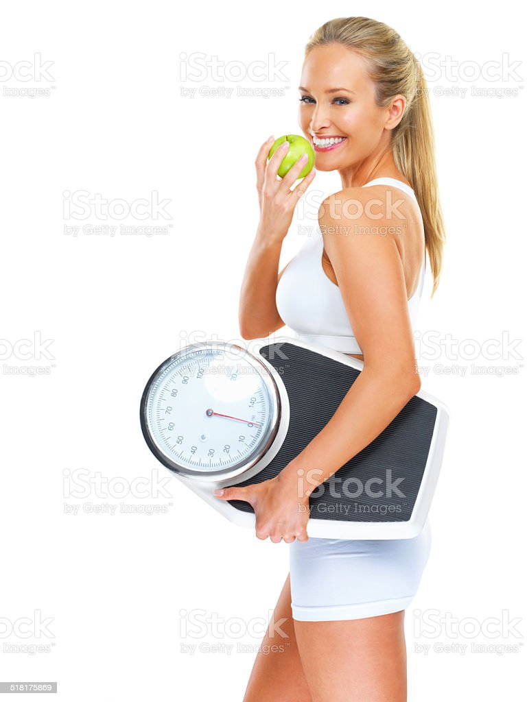 Living well through diet and exercise stock photo