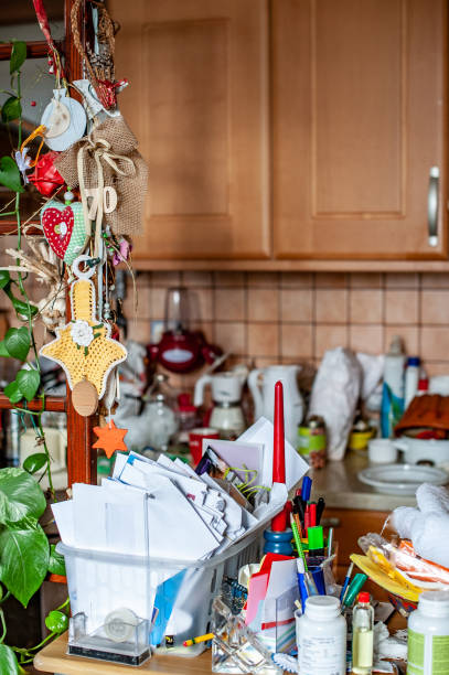 Living with Hoarding Disorder Living with Hoarding Disorder greed stock pictures, royalty-free photos & images