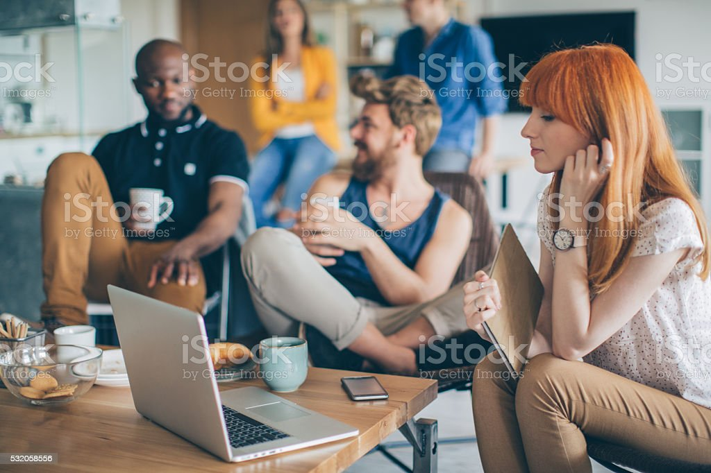 Living, working and playing under one roof. stock photo