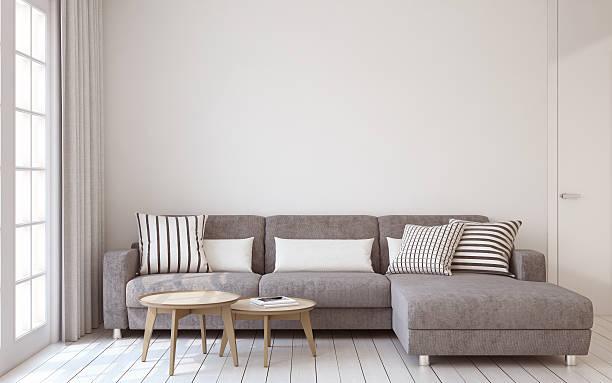 Living-room interior. 3d render. stock photo