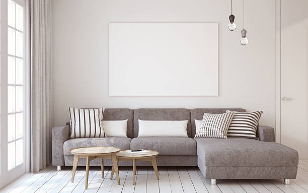 Living-room interior. 3d render. stock photo