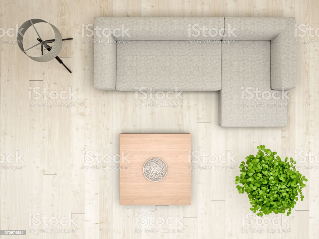 Charmant Livingroom Overhead View Stock Photo