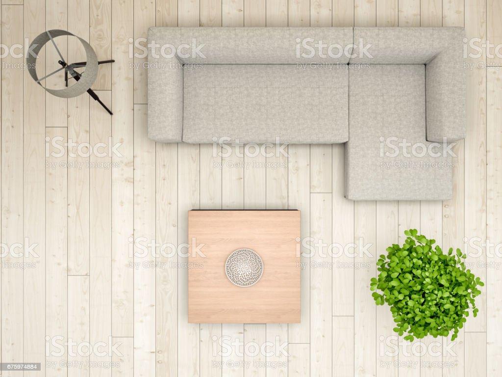 Livingroom Overhead View Stock Photo