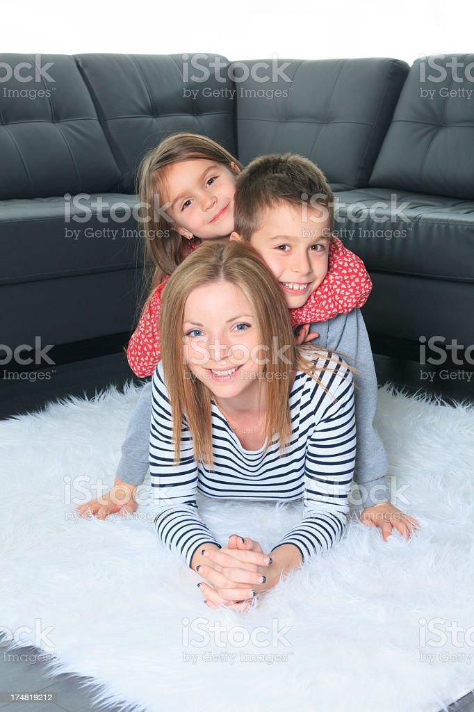 Livingroom - Three Family Carpet royalty-free stock photo