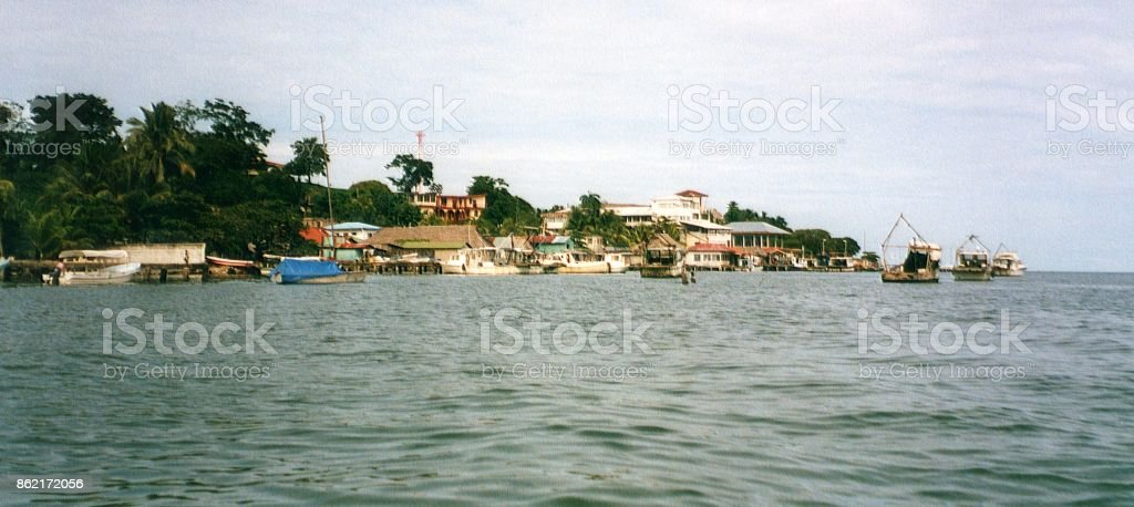Livingston and Rio Dulce river, Guatemala stock photo