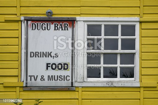 Livingston, Caribbean, Guatemala, Central America: sign with funny plural: Drink,s
