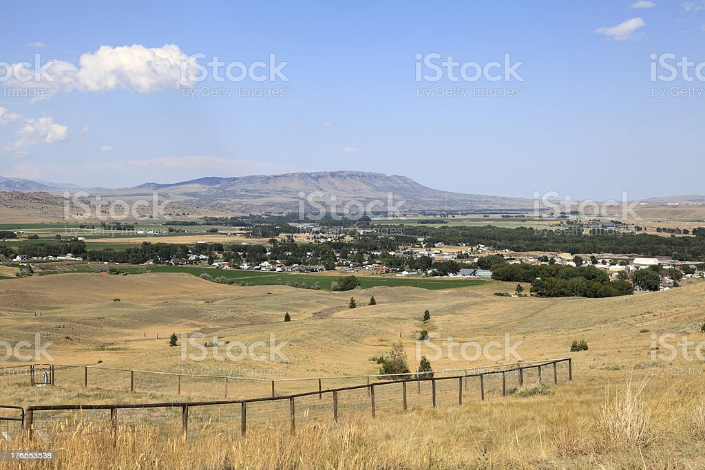 Livingston Montana Valley And Plains stock photo