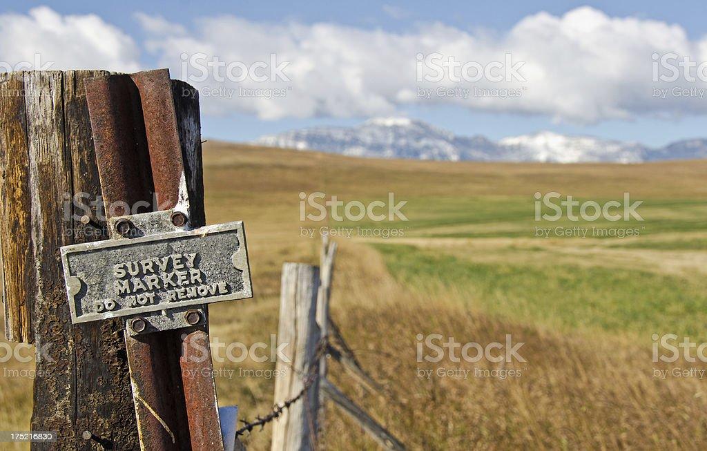 Livingston Mountains Survey Marker stock photo