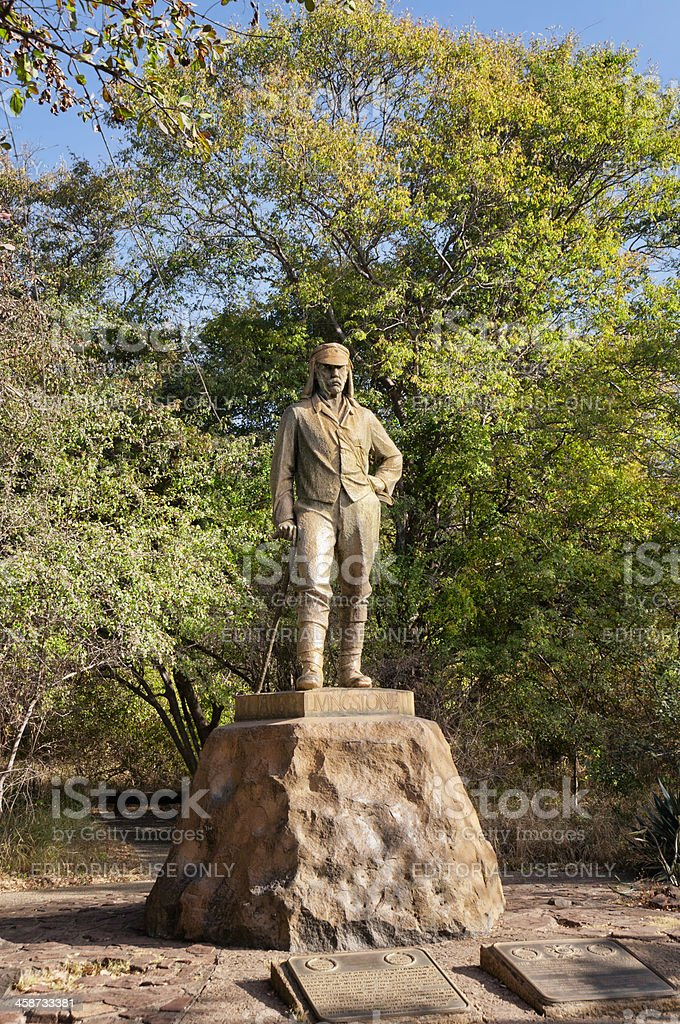 Livingstone Statue stock photo