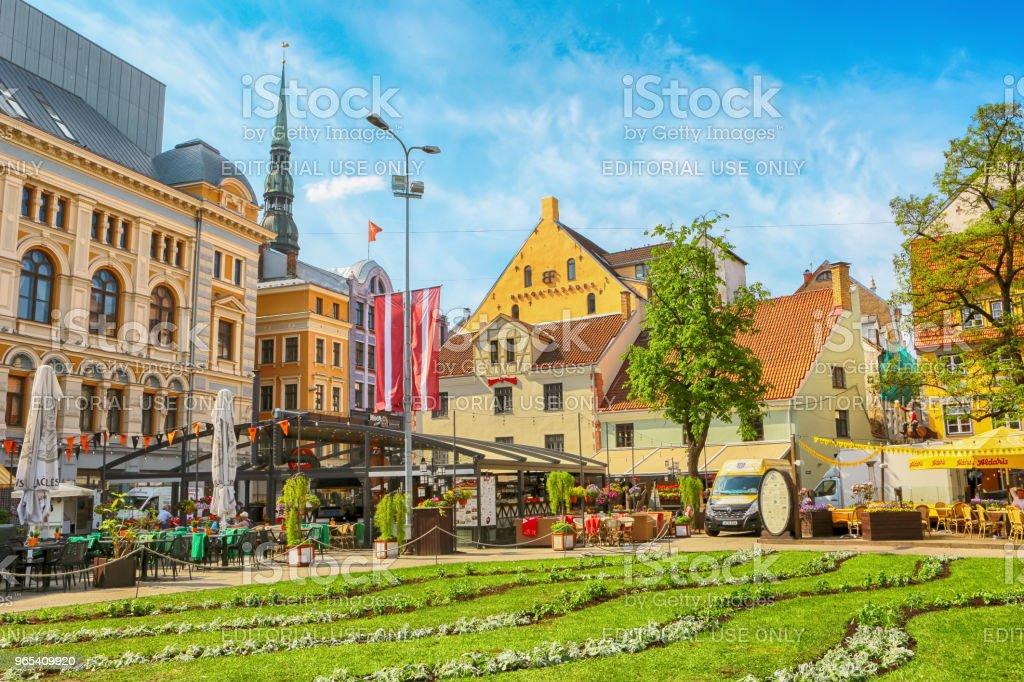Livu square, Riga zbiór zdjęć royalty-free