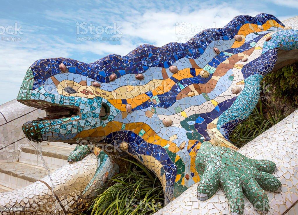 Lizard of Gaudi stock photo