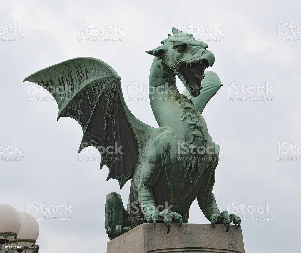 Ljubljana Bridge Dragon royalty-free stock photo